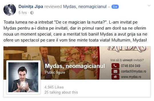Review (recenzie): Mydas, magician nunta